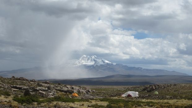 10/23/2014 - Ice age Andes settlement found at record high altitude - 12,400 year old site shows ice age humans more adaptable than thought.  OR..... the settlement was not at this altitude 12,400 years ago (as with the fossilized sea shells that can be found at great heights.)