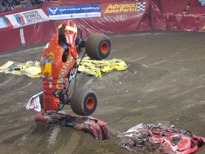 Evan and Lauren's Cool Blog: 2/17/13: Monster Jam Pit Party and Show at the DCU Center