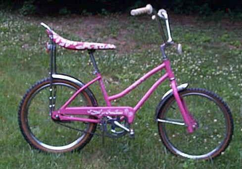 banana seat bike....mine was orange... :)