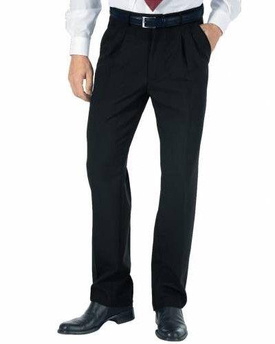 Pantalone uomo per cameriere, modello taglio classico sfoderato con 2 tasche più 1 taschino dietro. Tessuto 100% poliestere. Disponibile nel colore NERO.