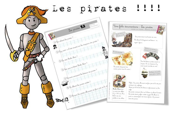 CP / CE1 : Fiche documentaire: les pirates