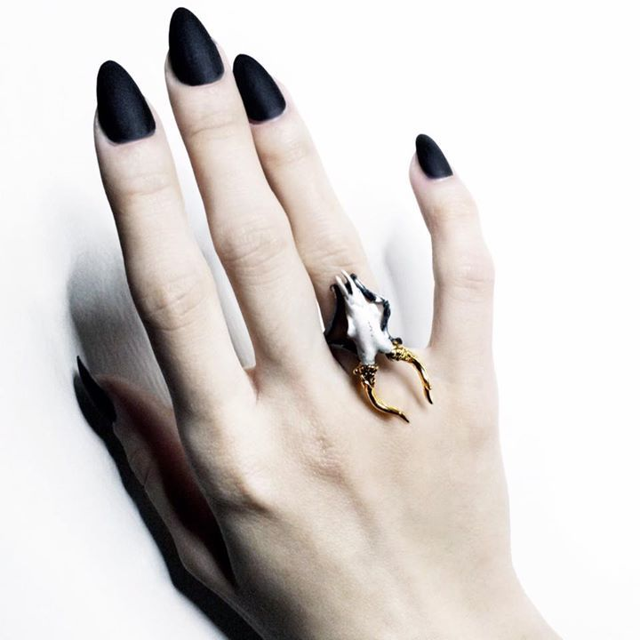Don't miss up to 60% OFF STORE-MACABREGADGETS.COM - Limited time only!  #macabregadgets #jewelry #black #fashion #pure #ring #light #sculpture #ring #silver #gold #roe #deer #finejewelry #coral #skull #skullring #skulljewelry #giftideas #nails #horns #blackfashion #allblack #fashionjewelry