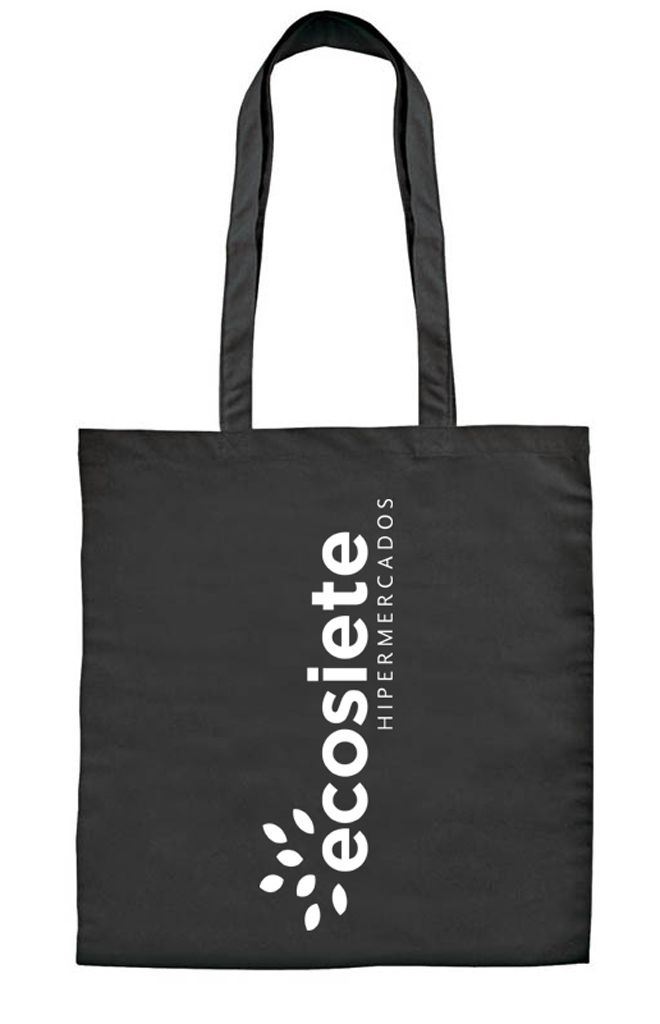 Bolsa de algodón negra con diseño de Prismatika para Pak&Bag