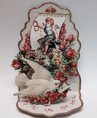 29 best cartes anciennes images on pinterest antique maps vintage 1930s vintage german victorian valentine 3 d wedding angel antique greeting card m4hsunfo