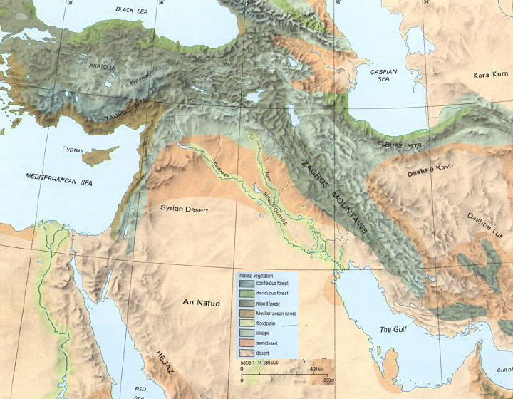 physical map of fertile crescent  Google Search  Mesopotamia
