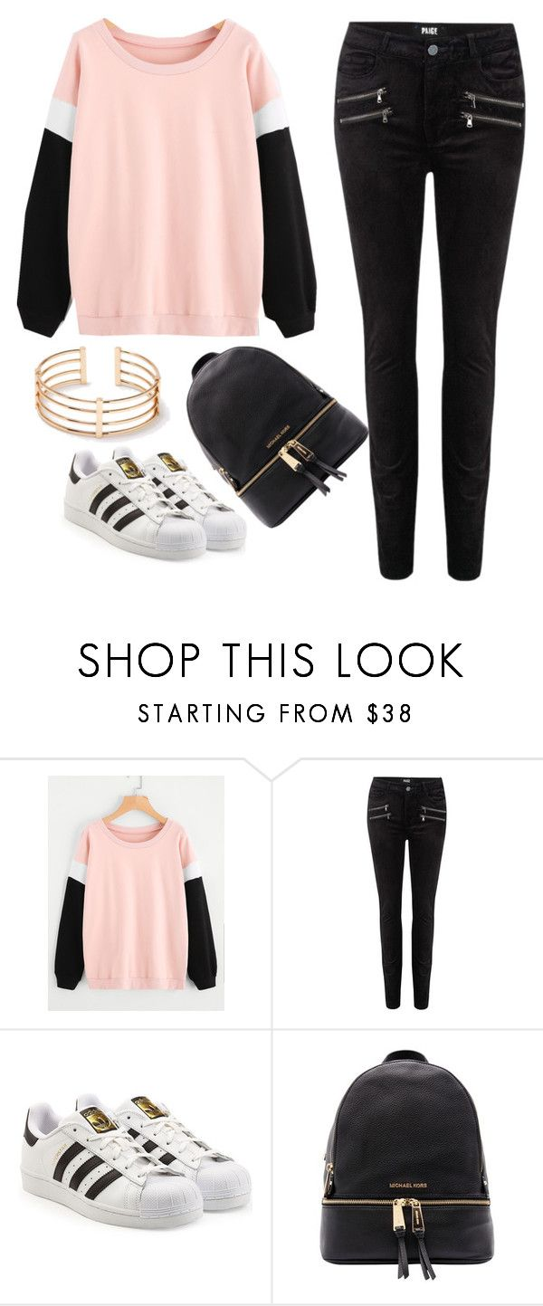 """""""court"""" by gxxd-vxbes ❤ liked on Polyvore featuring Paige Denim, adidas Originals and Michael Kors"""