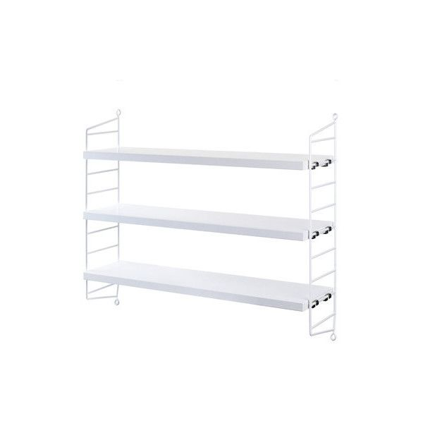 string pocket wall shelf 550 ils liked on polyvore featuring home