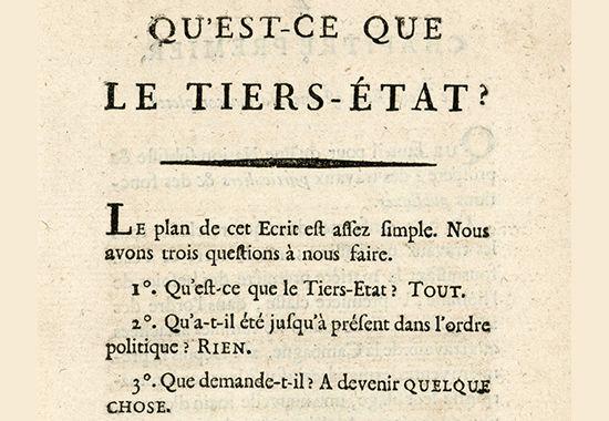 Qu'est-ce que le tiers état? / What Is the Third Estate? - January 1789