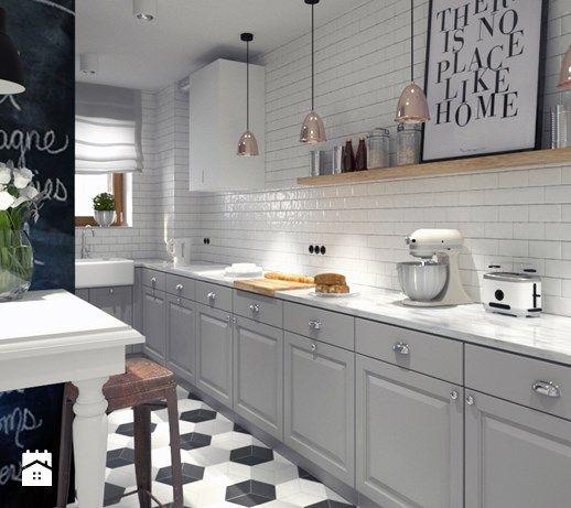 Duża kuchnia, styl skandynawski - zdjęcie od DOMagała Design