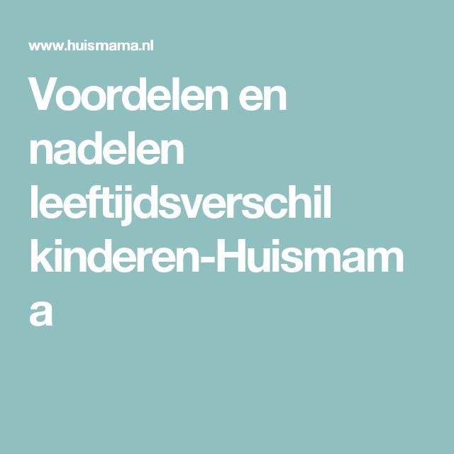 Voordelen en nadelen leeftijdsverschil kinderen-Huismama