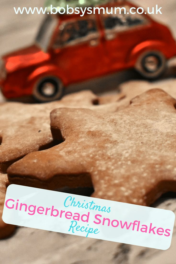 Gingerbread Snowflakes recipe #christmasbaking #baking #biscuits