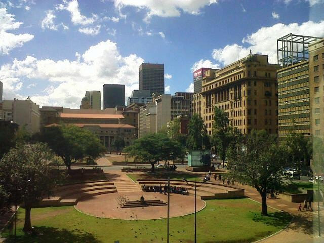 The historical heart of Jo'burg in tatters.