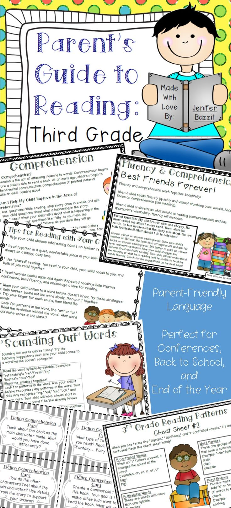 """""""What can I do to help my child become a better reader?""""    As a Reading Specialist, I hear this question frequently from parents. I created this guide to give parents information, activities, and suggestions for helping their children at home. This guide is perfect for parents because it explains reading concepts in clear, easy-to-understand language. You don't have to be an education professional to understand this parent guide!"""