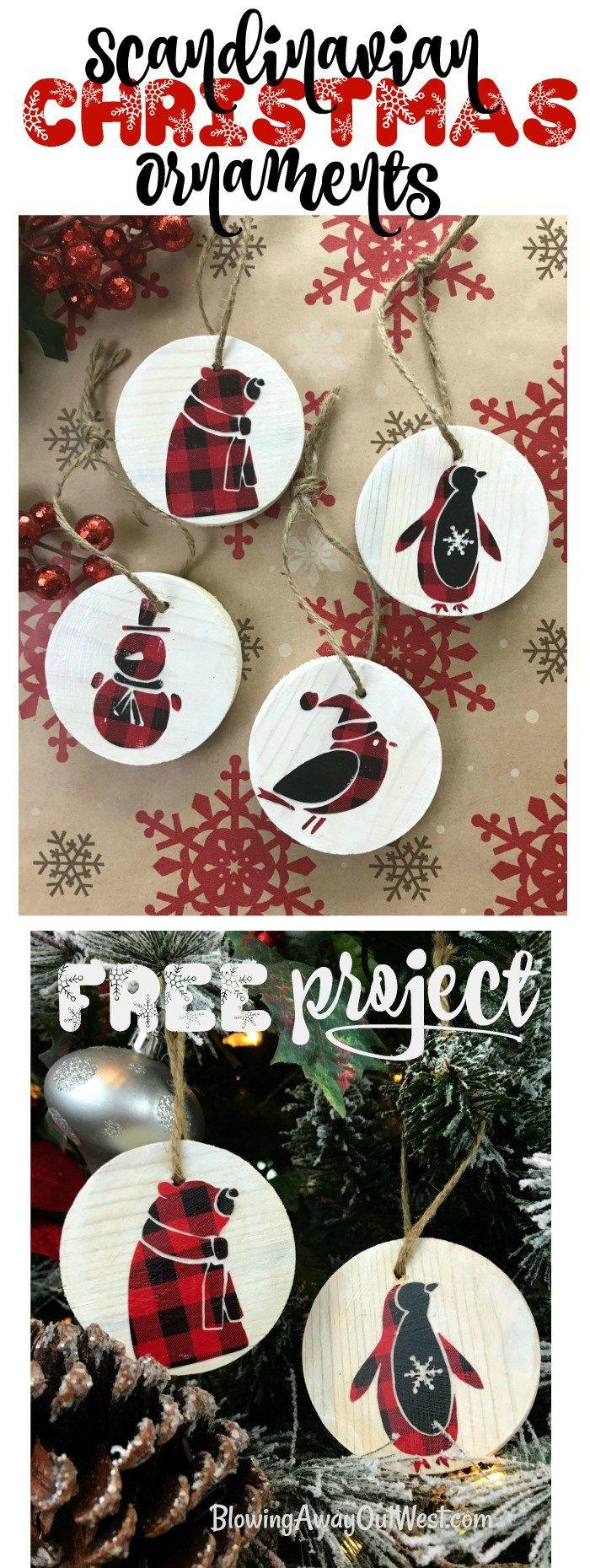 Scandinavian Wood Ornaments : Buffalo Check Ornaments   blowingawayoutwes... - D...