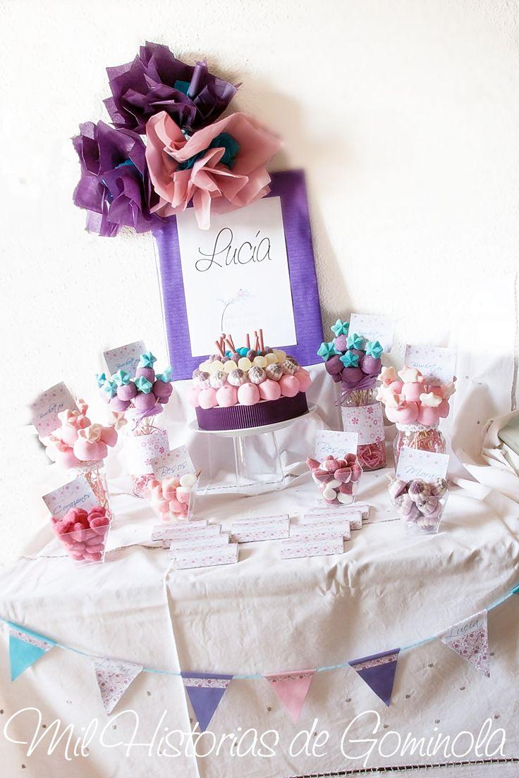 Comunion kit candy bar mesa de chuches celebracion for Ideas para mesas de chuches