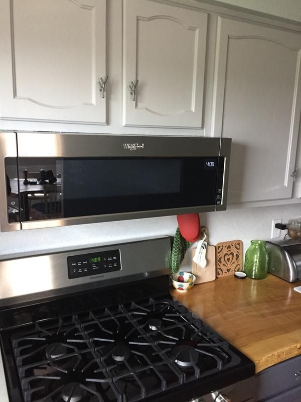 Heritage Stainless Steel 1 1 Cu Ft Low Profile Microwave Hood Combination Wml55011hs Whirlpool In 2020 Microwave Above Stove Small Kitchen Diy Stove Top Microwave