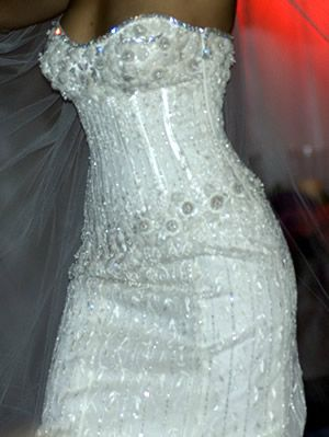Wedding Dress - by jewelry designer Martin Katz & dress designer Renee Strauss - created this $12m - 150 carat diamond-covered dress