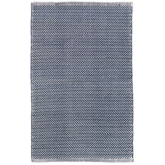 Dash and Albert Rugs C3 Herringbone Blue/White Indoor/Outdoor Area Rug & Reviews | Wayfair