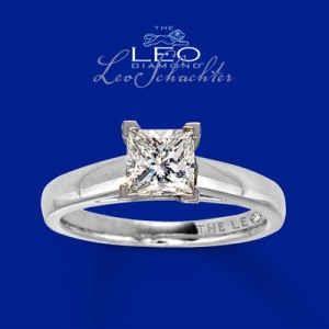 Leo Diamond Ring - 1 ct Princess cut Solitaire