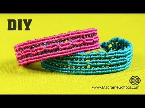 ▶ Reflective Macramé Bracelet with Light Reflecting Thread ☼ - YouTube
