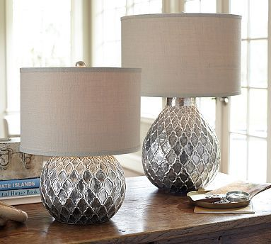 PORTABLE FIXTURES: TABLE : This is a general light source because light can come through the shade and from the top and bottom of the lamp shade. It is able to be moved off the table.