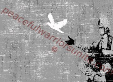 digital street art - PeacefulWarriorsUnite