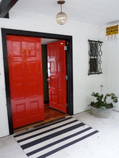 red doors.