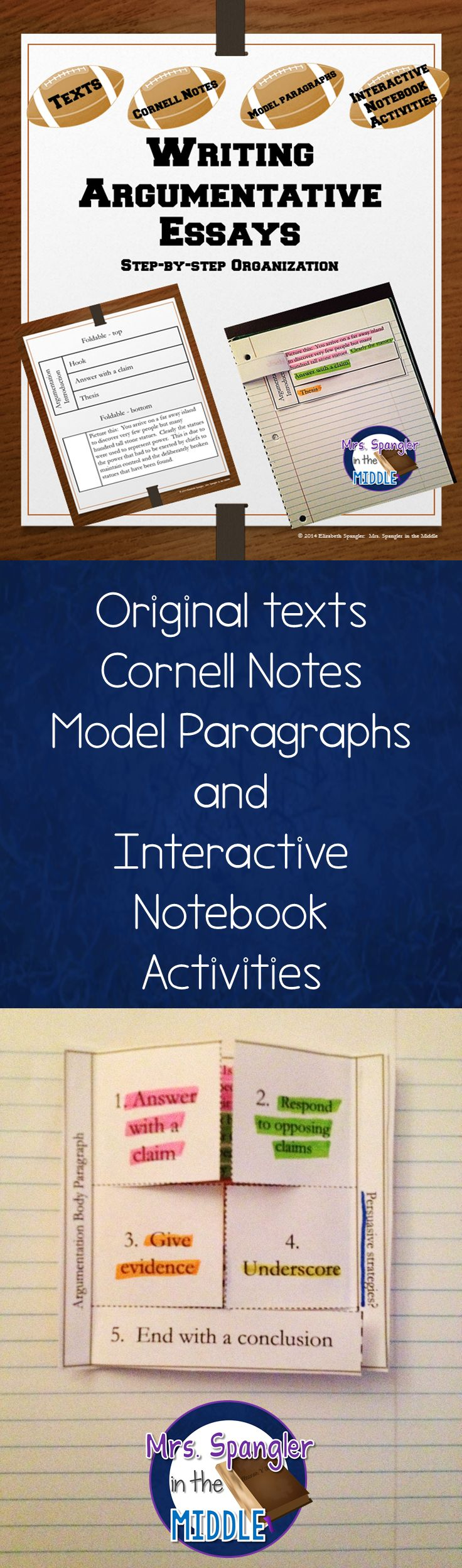 17 best images about cornell notes structured step by step instruction to write argumentative essays two texts