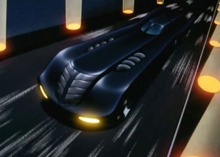 Batman: The Animated Series Batmobile.  I remember the opening to the show and seeing his awesome Batmobile.