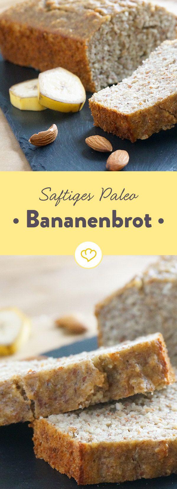 Zucker? Brauchst du nicht. Mehl? Kannst du im Schrank lassen. Das Paleo Bananenbrot überzeugt auch mit kurzer Zutatenliste mit vollem Geschmack.
