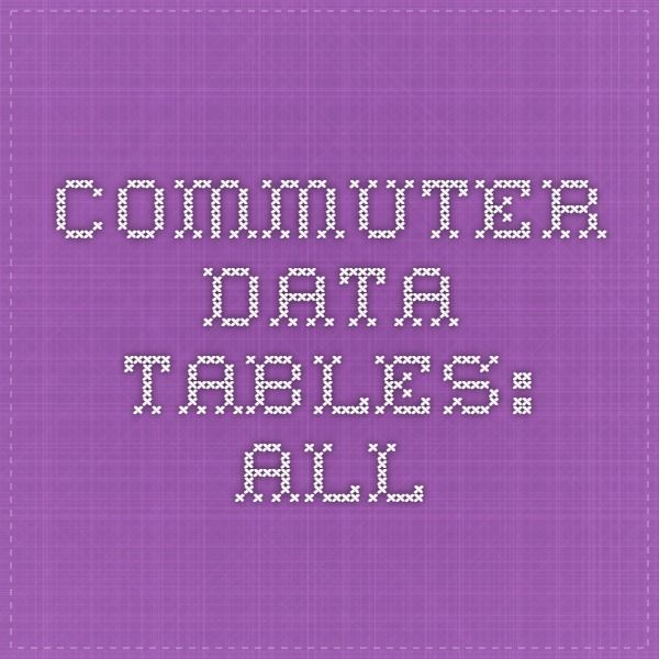 Commuter Data Tables: All