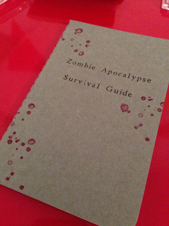 Zombie Apocalypse Survival Guide notebook by MadeByRori on Etsy