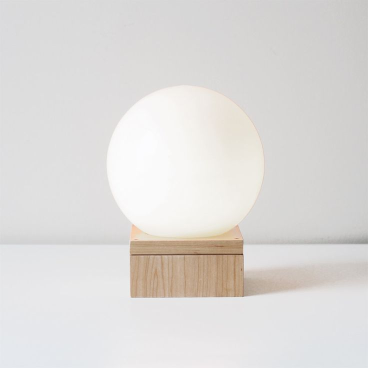 modern glass orb lamp