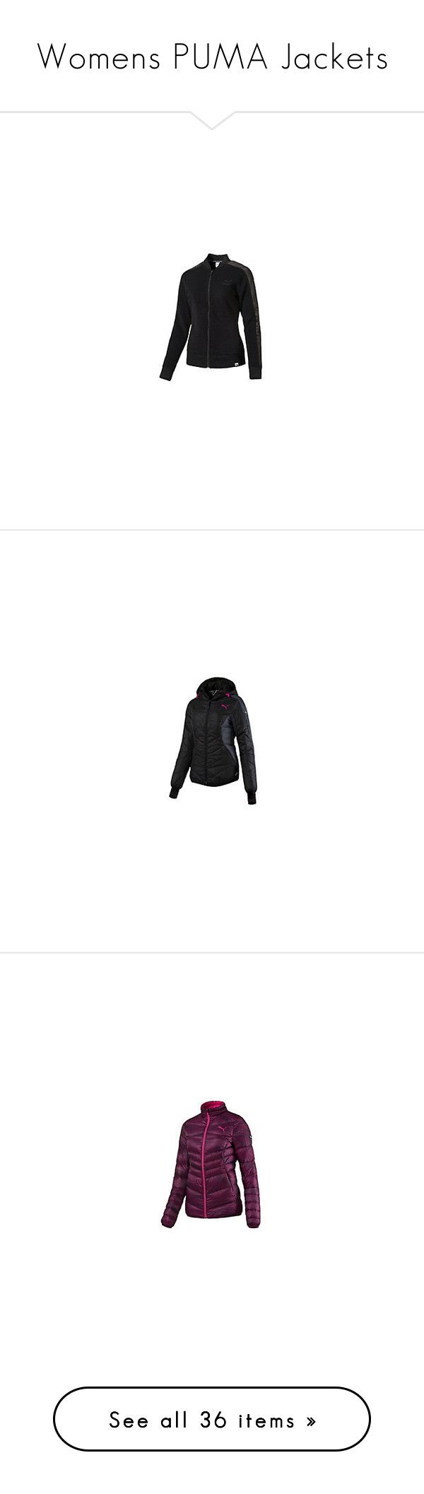 """Womens PUMA Jackets"" by tynabrookler ❤ liked on Polyvore featuring activewear, activewear jackets, outerwear, jackets and coats"
