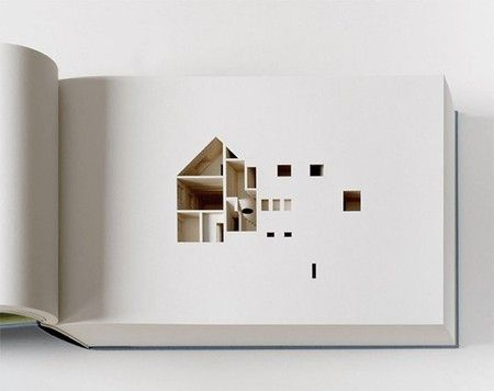 Ólafur Elíasson くりぬいて作られた立体建築本 The Negative Space of a House