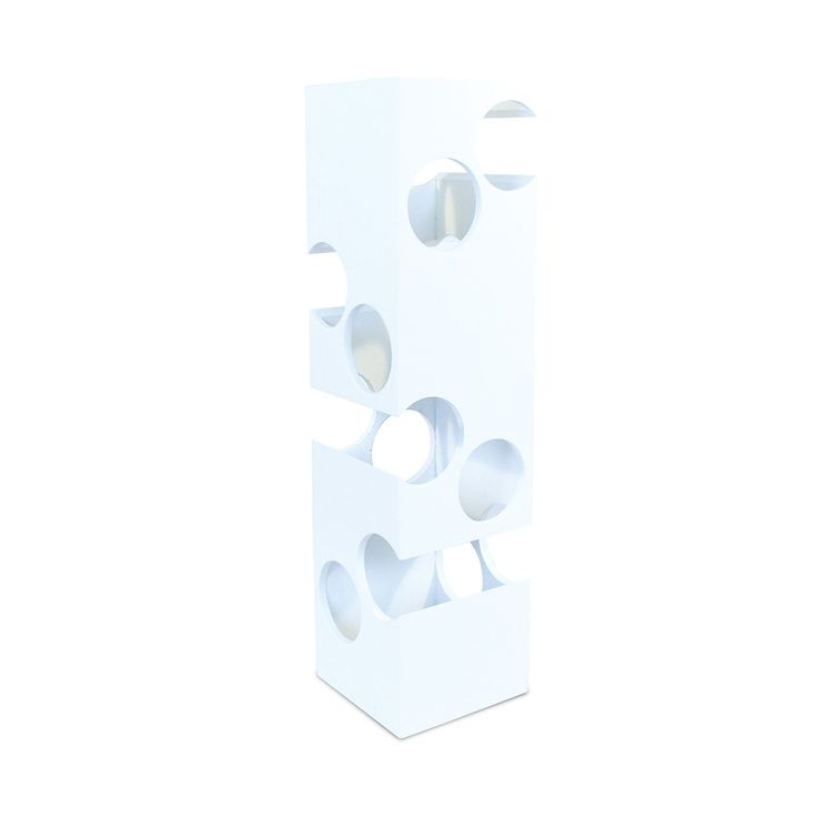 Puzzled Tower Blvd. Contemporary 8-bottle White Wine Rack (24.5 in. H x 6.5 in. W x 6.5 in. L)