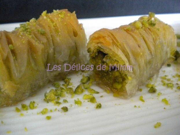 Recette - Baklavas rolls aux pistaches (recette libanaise)   Notée 4.1/5
