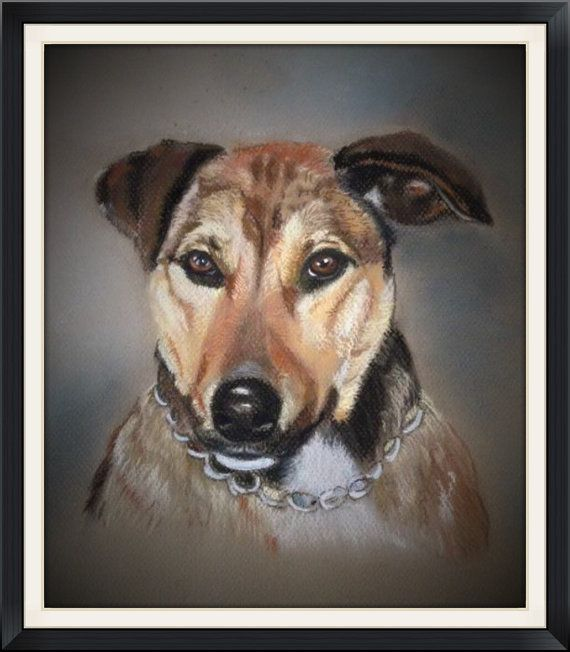Custom pastel pet portrait sample by Artbytanyamaree on Etsy