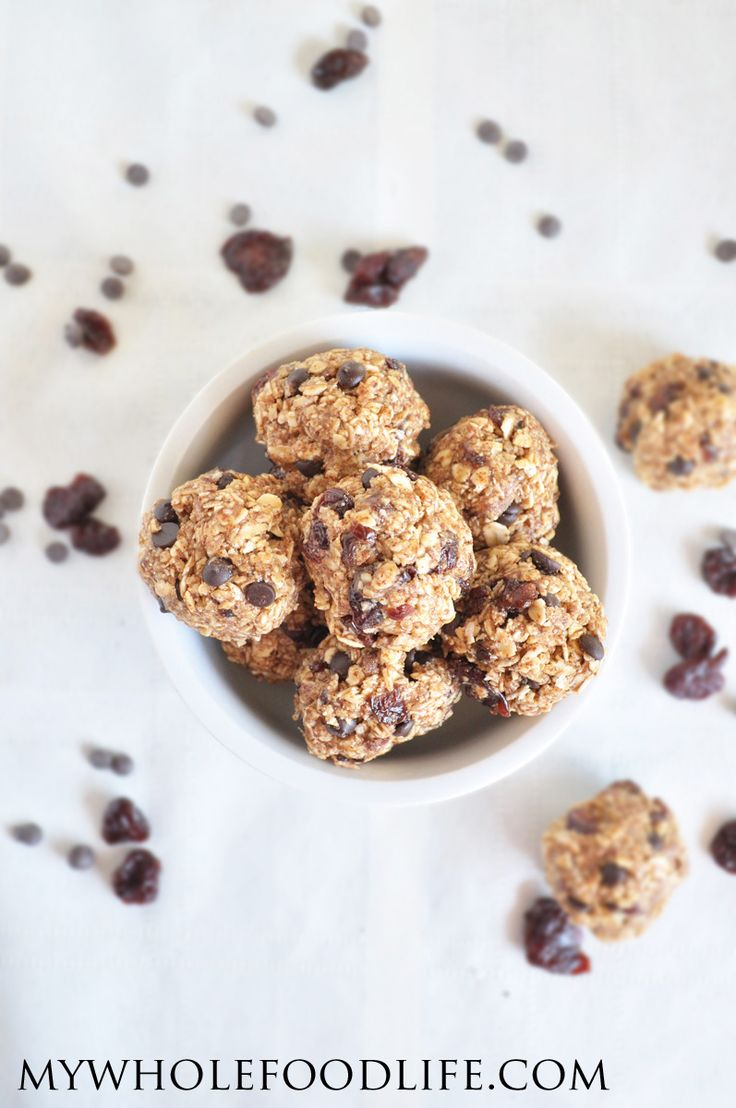 Cherry Chocolate Energy Bites. A 5 minute, healthy snack that you will ...