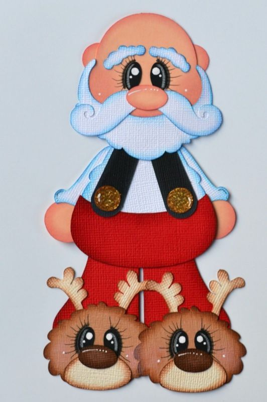Craftecafe Paper Piecing Santa Claus para prefabricados de Scrapbook página de diseño Pijama's