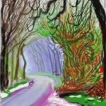The Arrival of Spring in Woldgate, East Yorkshire in 2011 (twenty eleven) - 14 March, 2011 iPad drawing printed on paper 55 x 41 1/2 in. (139.7 x 105.4 cm) © David Hockney. Courtesy of L.A. Louver, Venice, CA Photo: Richard Schmidt