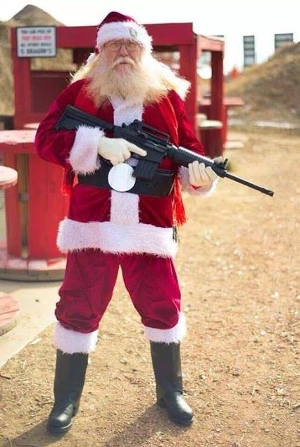 Pissed off santa