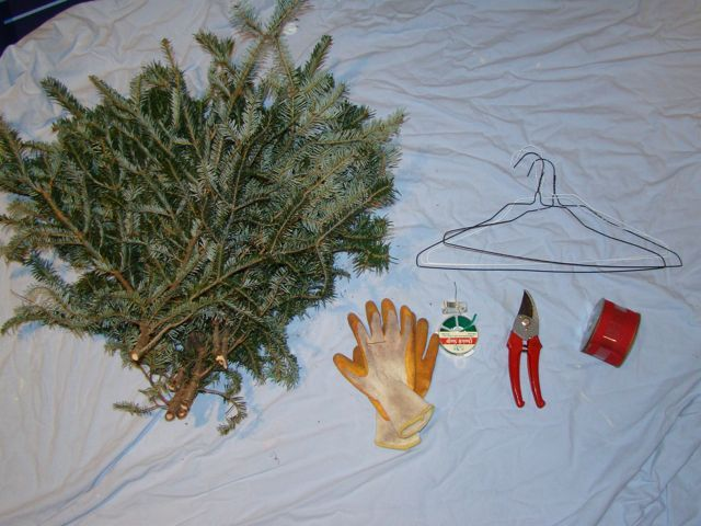 I never buy Christmas wreaths. This is how I make mine. So easy!!