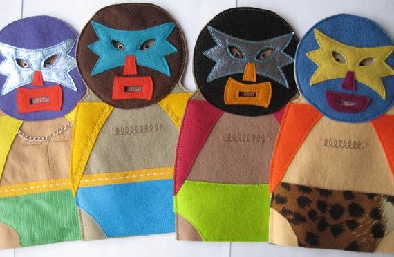 Mexican Lucha Libre Christmas ornaments