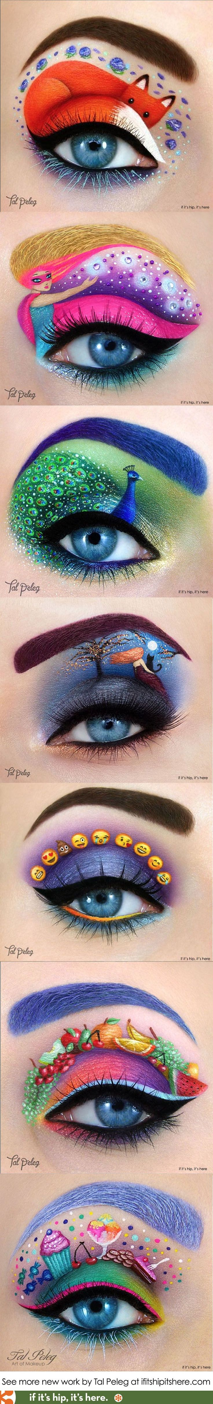 Israeli Makeup Artist Tal Peleg just keeps getting better and better. A look at some of her newer work at  http://www.ifitshipitshere.com/eye-makeup-by-tal-peleg/