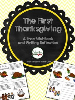 FREE! The First Thanksgiving Mini-Book and Reflection
