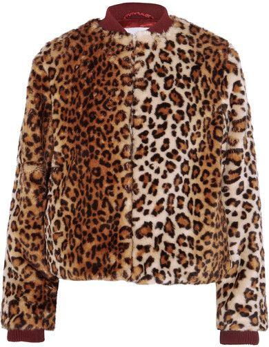 GANNI - Ferris Leopard-print Faux Fur Bomber Jacket - Leopard print