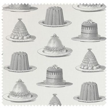 jellies and cakes, grey wallpaper by Thornback & Peel at Galerie CO