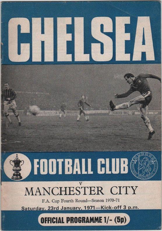 Vintage Football Programme - Chelsea v Manchester City, FA Cup 4th round, 1970/71 season, by DakotabooVintage on Etsy, £3.99