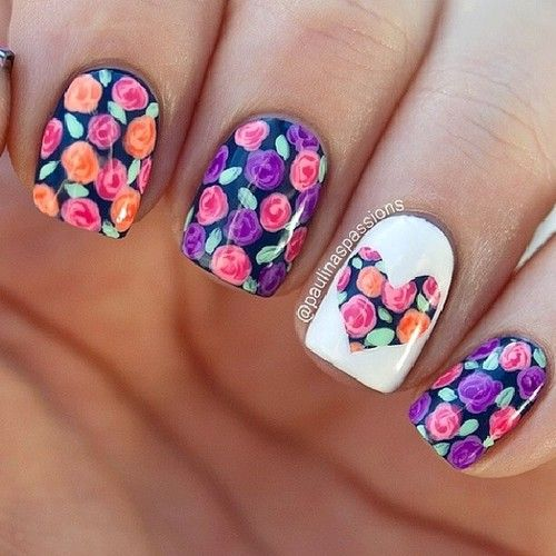 Check out this cool #nailart design we found, Perfect for #Spring, We Heart (http://www.20PhazedFashion.com)